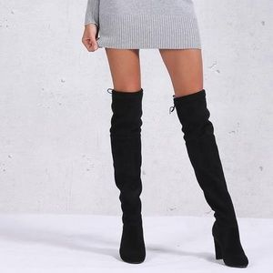 Women's over the knee brown boots